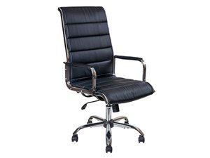 Офисное кресло AV 137 CH МК экокожа черная Алвест