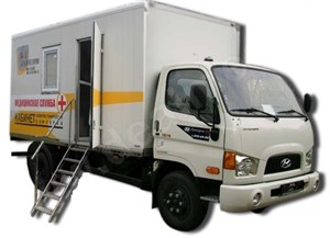 Передвижной флюорографический кабинет КФП-Ц-РП на базе шасси HYUNDAI HD 78 Амико
