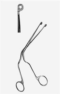 Щипцы д/тамп.горла и глотки мал. 200 мм П-3-142 Sammar